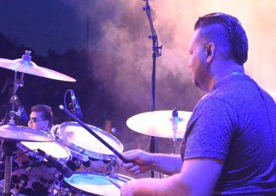 Ryan on drums