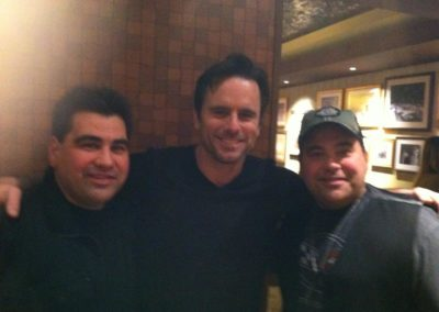 The Stickers with Chip Esten backstage at Opry